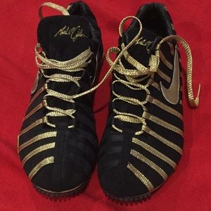 NIKE ZOOM jsc. Track shoes gold & black size 8.5